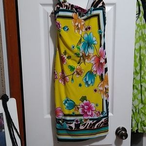 NWOT Tropical Summer Lined ZipUp MiniDress Size 2